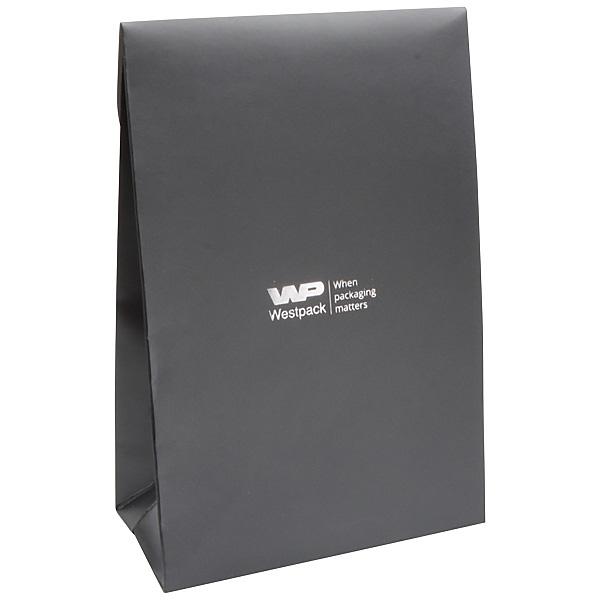 Matte cadeauzakje voor sieraden, groot Donkergrijs papier 120 x 180 x 64 170 gsm