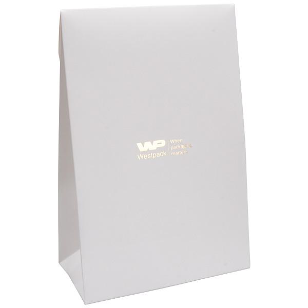 Matte cadeauzakje voor sieraden, groot Wit papier 120 x 180 x 64 170 gsm
