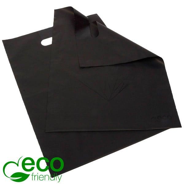 500 Sacs plastique ECO imprimé avec diamant, petit Plastique recyclé noir / Motif diamant noir 250 x 350 50 my