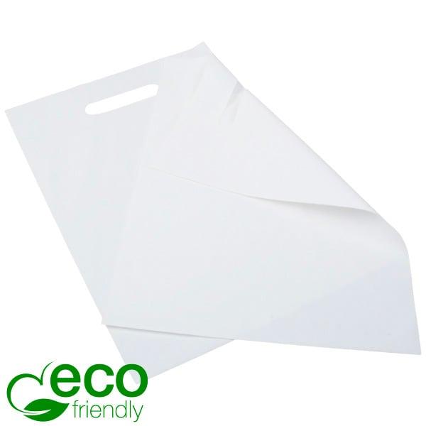 Kleine plastic draagtas met ECO-friendly, 500 st. Mat wit / 100% gerecycled plastic 250 x 350 50 MY