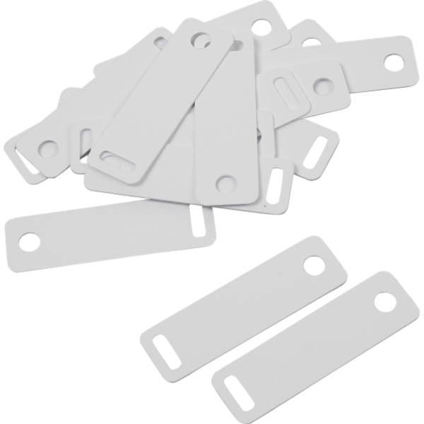 Étiquette plastique d'étalage pour chaîne, 100 pcs Plastique blanc à fil blanc 38 x 11