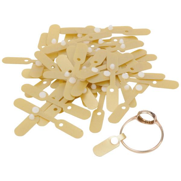 Étiquettes plastique à rivet pour bague, 1000 pcs Plastique d'or 40 x 6