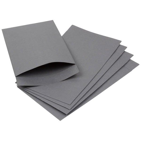 Kraftzakje klein, 250 st. Grijs kraftpapier 75 x 130 100 gsm