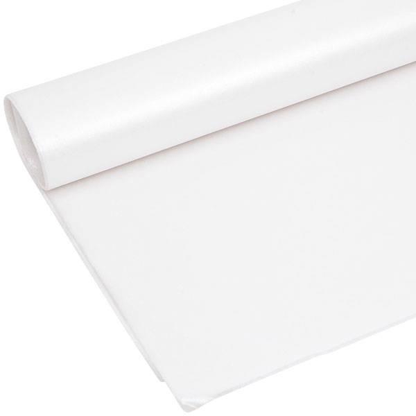 Zijdevloeipapier met parelglans, 240 vellen Wit parelmoer 760 x 505 17 gsm