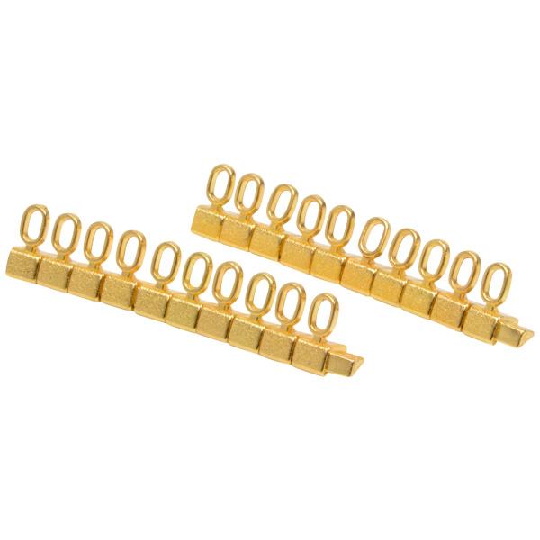 8 mm Luxe prijsblokjes voor sieraden, 20 st. Nr. 0, Goudkleurig