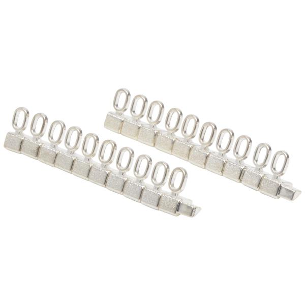 8 mm Luxe prijsblokjes voor sieraden, 20 st. Nr. 0, Zilverkleurig