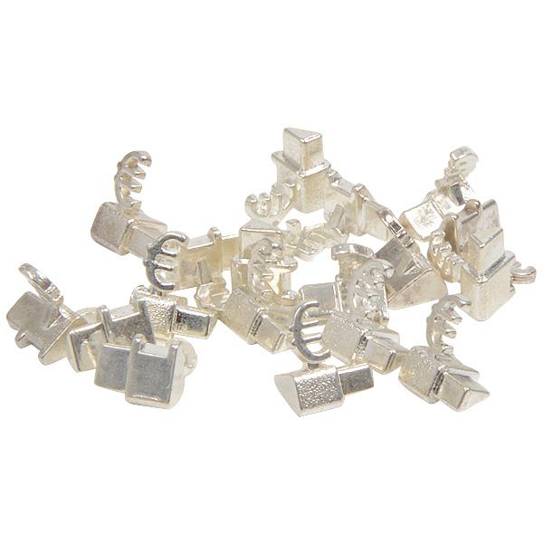 Chiffres prix de luxe pour bijoux 8 mm, 20 pcs Cube de départ avec €, Couleur argent