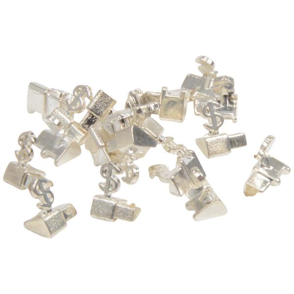 Chiffres prix de luxe pour bijoux 8 mm, 20 pcs Cube de départ avec $, Couleur argent