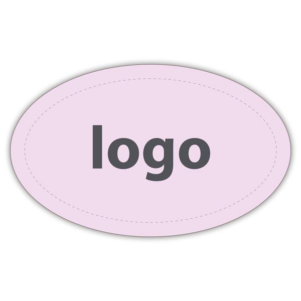 Etiquettes adhésives 002 - Ovale Rosé clair mat 39 x 24