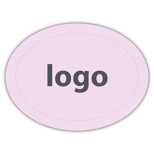 Etiquettes adhésives 004 - Ovale Rosé clair mat 28 x 21