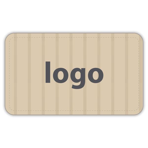 Etiquettes adhésives 005 - Rectangulaire Papier havane vergé mat 32 x 19