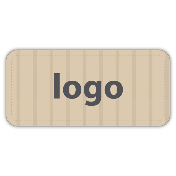 Etiquettes adhésives 006 - Rectangulaire Papier havane vergé mat 30 x 14