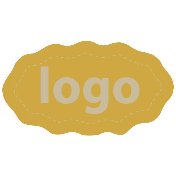 Etiquettes adhésives 009 - Ovale festonnée Doré 29 x 16