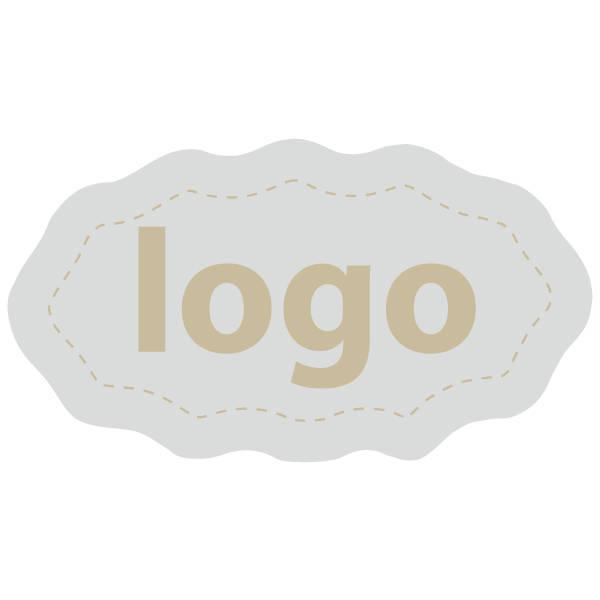 Etiquettes adhésives 009 - Ovale festonnée Argent 29 x 16
