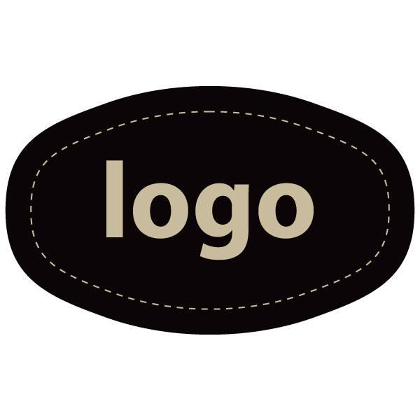 Etiquettes adhésives 010 - Ovale Noir 33 x 20