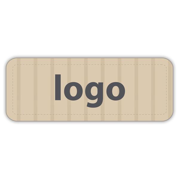 Etiquettes adhésives 012 - Rectangulaire Papier havane vergé mat 50 x 19