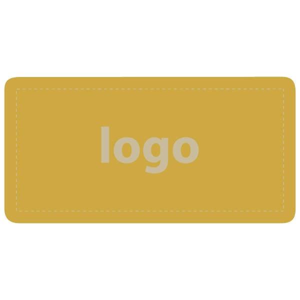 Etiquettes adhésives 016 - Rectangulaire Doré 50 x 25