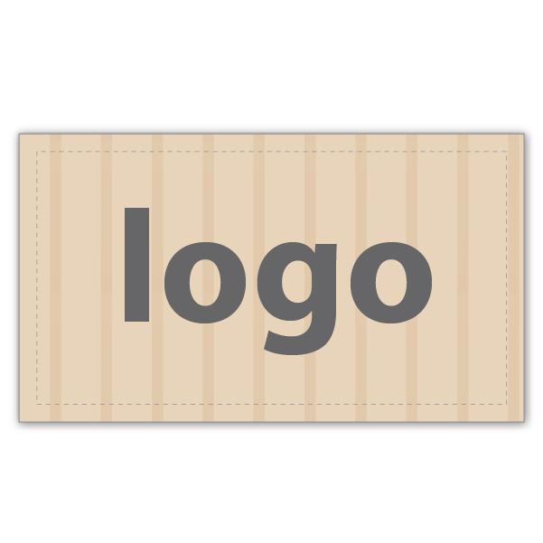 Etiket met logo 018 - Rechthoekig, scherpe hoeken Mat naturel etiket met uw logobedrukking 28 x 16