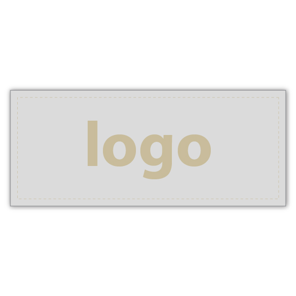 Etiquettes adhésives 019 - Rectangulaire Argent 38 x 16