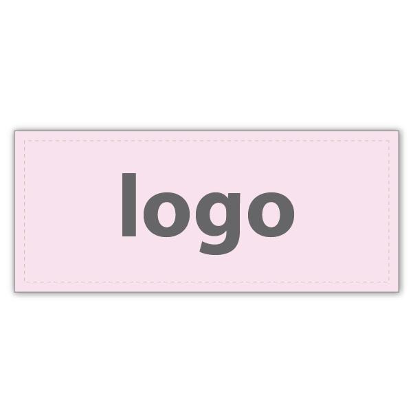 Etiquettes adhésives 019 - Rectangulaire Rosé clair mat 38 x 16