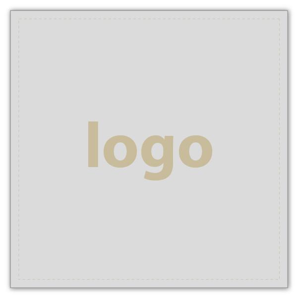 Etiket met logo 020 - Vierkant, scherpe hoeken Mat zilverkleurig etiket met uw logobedrukking 33 x 33