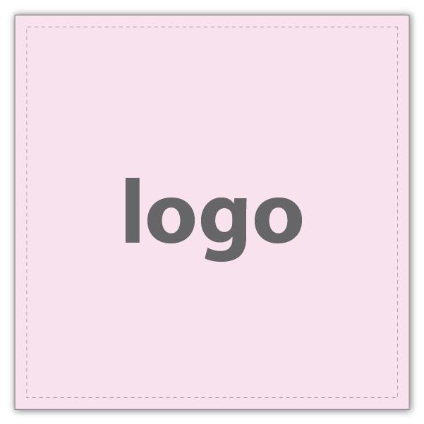 Etiquettes adhésives 020 - Carré Rosé clair mat 33 x 33