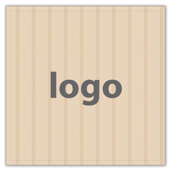 Etiket met logo 020 - Vierkant, scherpe hoeken Mat naturel etiket met uw logobedrukking 33 x 33