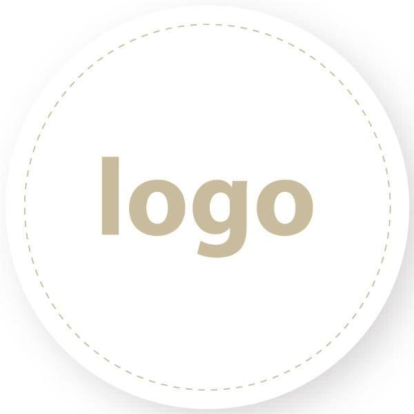 Etiket met logo 022, Rond Wit etiket met bedrukking 32 x 32