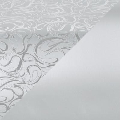 Cadeaupapier 1750 Zilver met krullenpatroon/mat zilver, dubbelzijdig  30 cm - 160 m