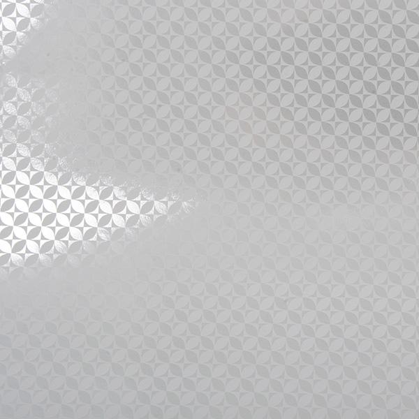 Cadeaupapier 6363 Wit/Zilver papier met grafische opdruk   50 cm - 100 m - 80 g