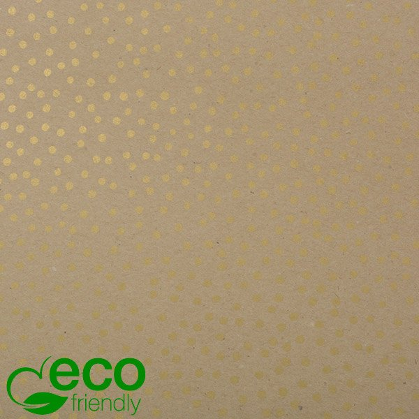 Papier Cadeau Écologique nº 7560 ECO Papier recyclé marron uni avec des points   20 cm - 100 m