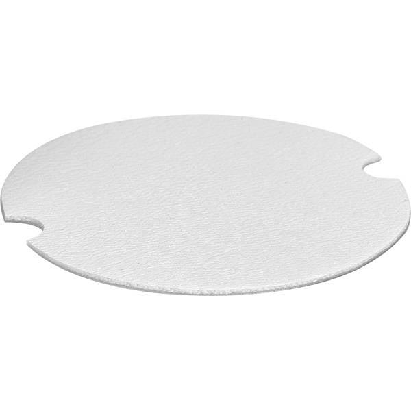 10 Presentatierondjes voor Ringen Wit Nappa Kunstleer  x 40