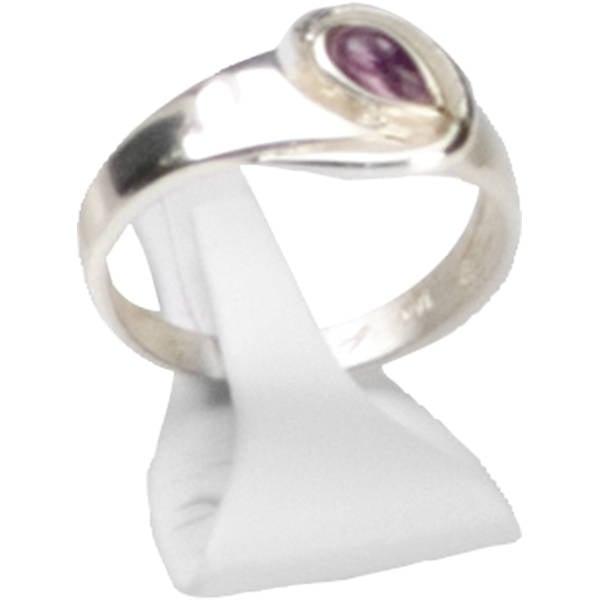 Display voor ring met klem, klein Wit Nappa 25 x 15