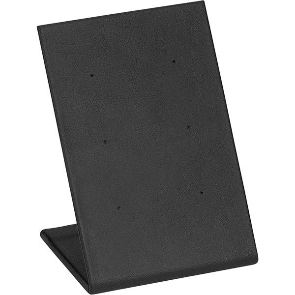 Display voor 3 paar Oorsieraden, klein Zwart Nappa 65 x 100