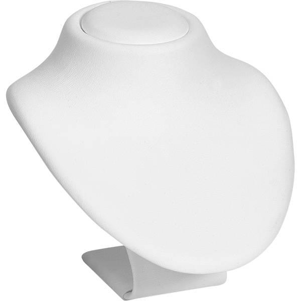 Display Halsje voor Sieraden, mini Wit Nappa 75 x 90
