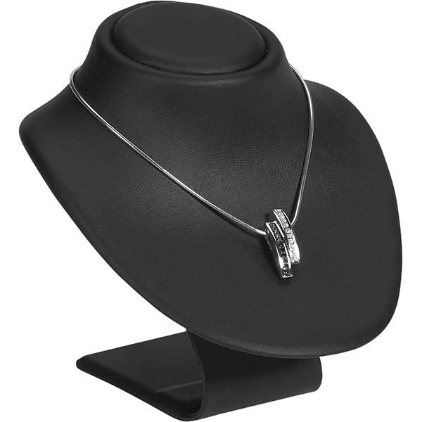 Display Halsje voor Sieraden, klein Zwart Nappa 95 x 110 x 100
