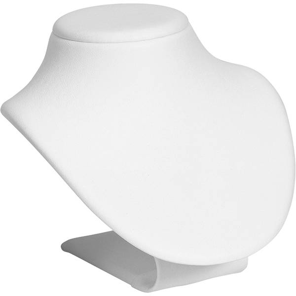 Display Halsje voor Sieraden, klein Wit Nappa 95 x 110