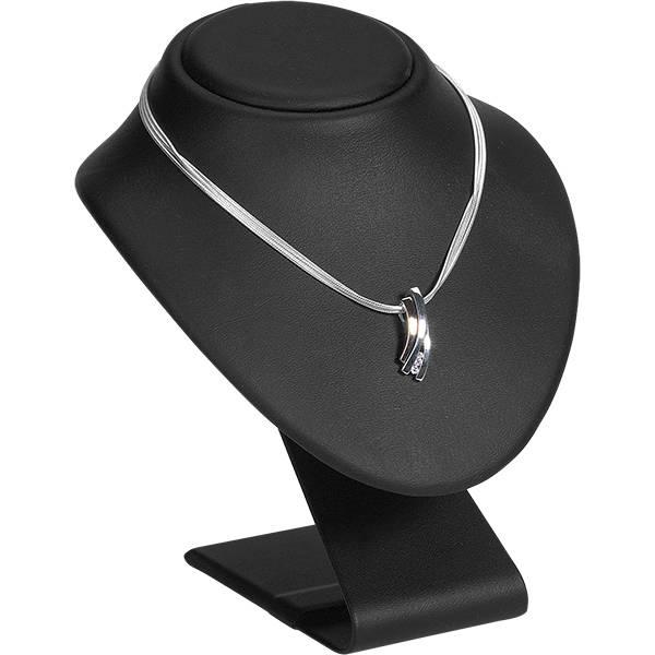 Hoog Display Halsje voor Sieraden, medium Zwart Nappa 135 x 155 x 140