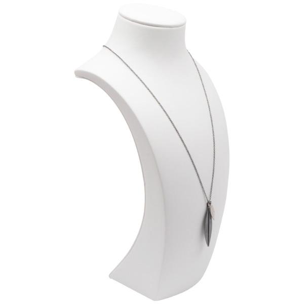 Hoog halsje voor collier, groot Wit Kunstleer (Nappa/Skai) 270 x 128