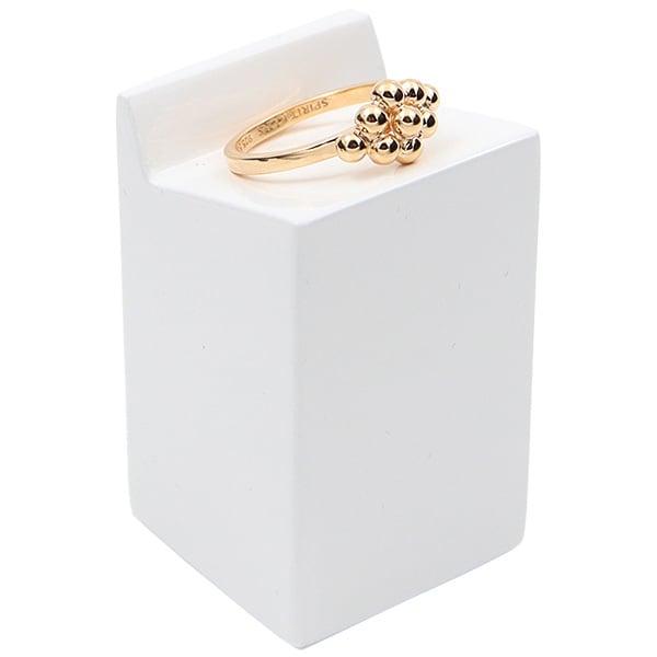Displayzuil voor ring, groot Hoogglans gelakt hout, wit 30 x 30 x 50