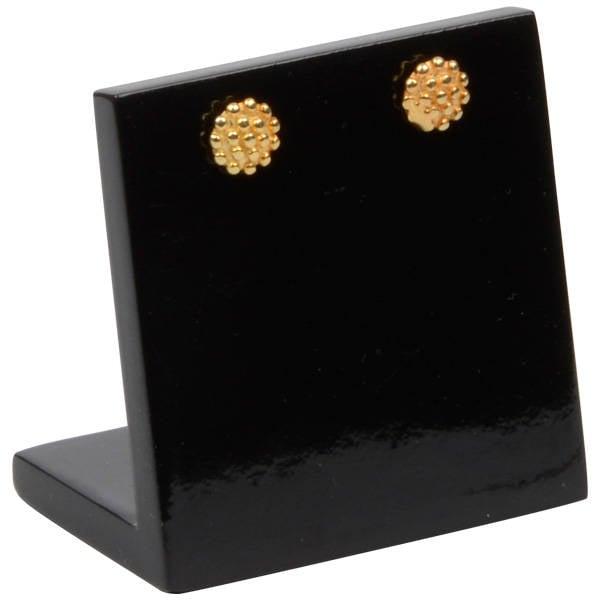 Display voor Oorstekers, klein Hoogglans gelakt hout, zwart 45 x 45 x 30