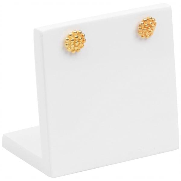Display voor Oorstekers, klein Hoogglans gelakt hout, wit 45 x 45 x 30