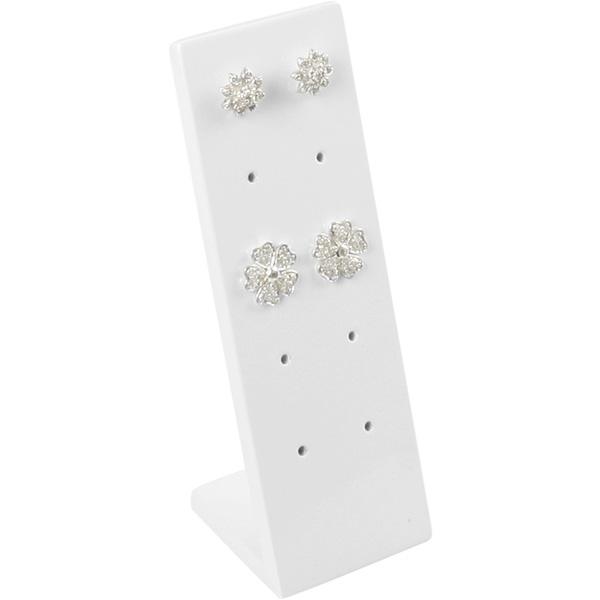 Présentoir pour 5 paires de boutons d'oreilles Bois brillant laquer blanc 36 x 110 x 36