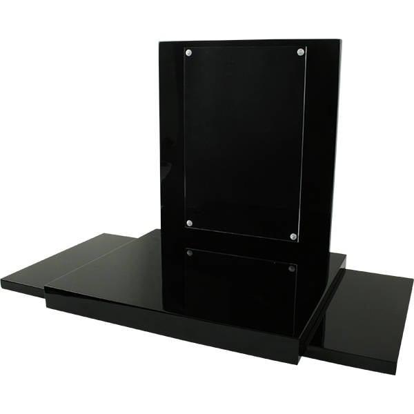 Présentoir à bijoux avec fenêtre en plexi, grand Bois brillant noir laquer 350 x 300 x 330