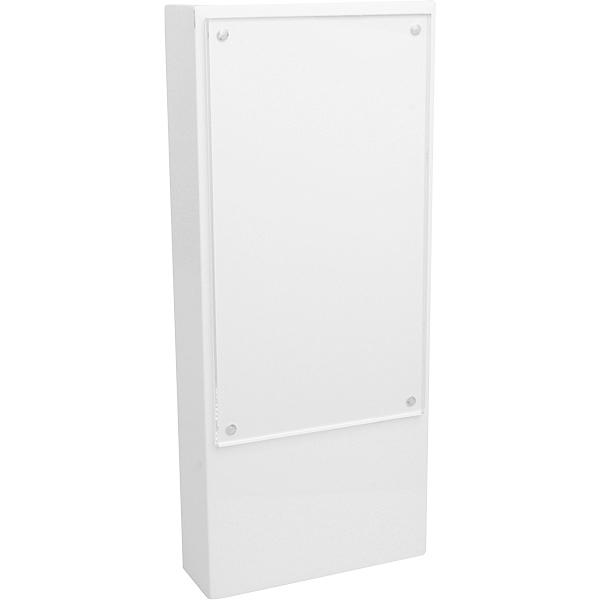 Presentatieblok voor merken, klein Wit hoogglans gelakt hout met Acryl venster 280 x 120 x 40