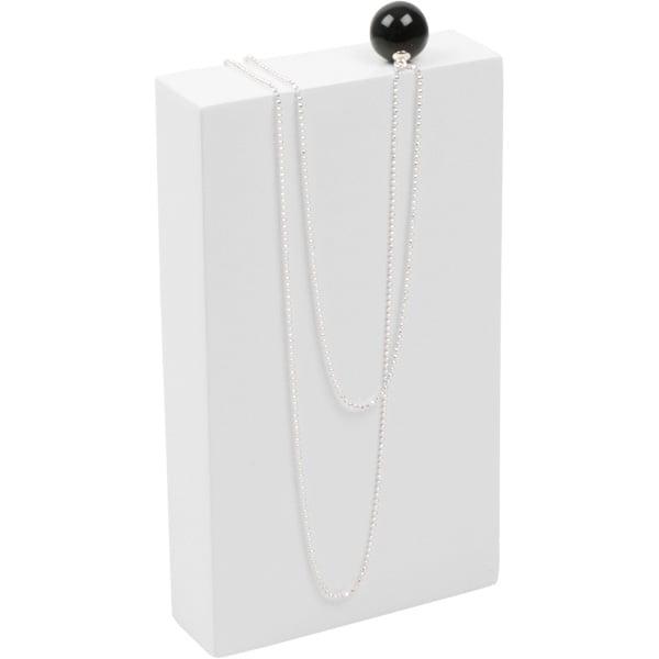 Presentatieblok voor Sieraden, mini Hoogglans gelakt hout, wit 80 x 140 x 25