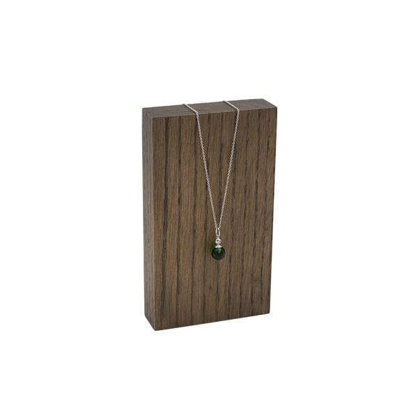 Presentatieblok voor sieraden, mini Massief hout, donker gebeitst 80 x 140 x 25