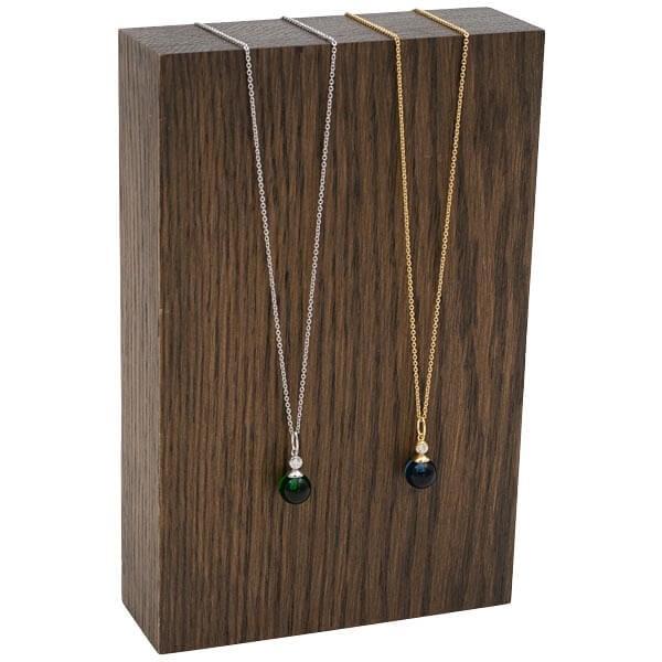Presentatieblok voor sieraden, klein Massief hout, donker gebeitst 110 x 170 x 35