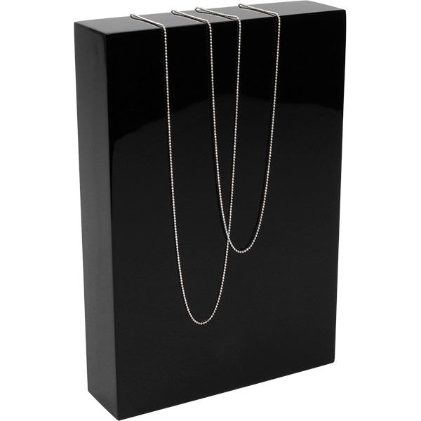 Presentatieblok voor sieraden, medium Hoogglans gelakt hout, zwart 150 x 220 x 40