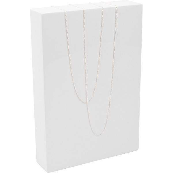 Presentatieblok voor Sieraden, medium Hoogglans gelakt hout, wit 150 x 220 x 40